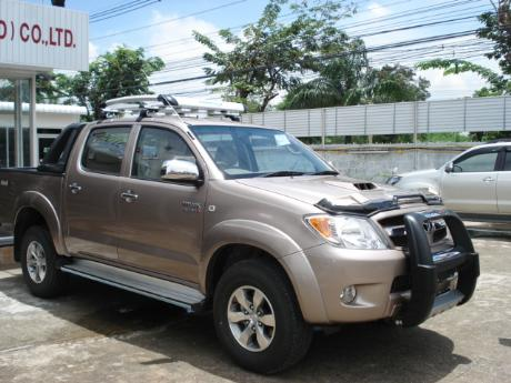 new Toyota Hilux Vigo Double Cab with A-bar at Thailand's top and Singapore's best Toyota Hilux Vigo dealer Jim Autos Thailand