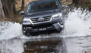 2015 Reveal of All New Toyota Fortuner. (Crusade pre-production model shown; fresh water crossing shown)
